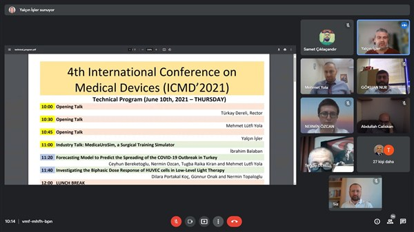 4. Uluslararası Tıbbi Cihazlar Konferansı' HKÜ'de Gerçekleştirildi