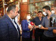 Başkan Şahin, Tarihi Çarşılarda Yürütülen Çalışmaları İnceledi