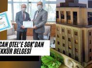 TUĞCAN Otel'e SGK'dan Teşekkür Belgesi