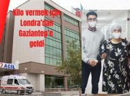 Kilo vermek için Londra'dan Gaziantep'e geldi