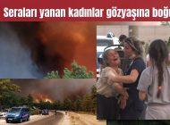 Manavgat'ta büyüyen yangın yerleşim alanlarına indi