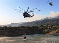 Helikopterlerin Aydın'ın Çine İlçesinde Alevle Mücadelesi Başladı
