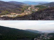 Marmaris'in yangın öncesi ve sonrası havadan görüntüleri
