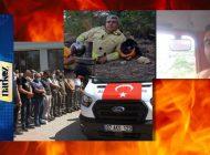 Orman Yangınında Hayatını Kaybeden İşçilere Son Veda