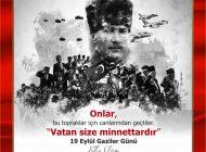 Vali Davut Gül'ün 19 Eylül Gaziler Günü Mesajı