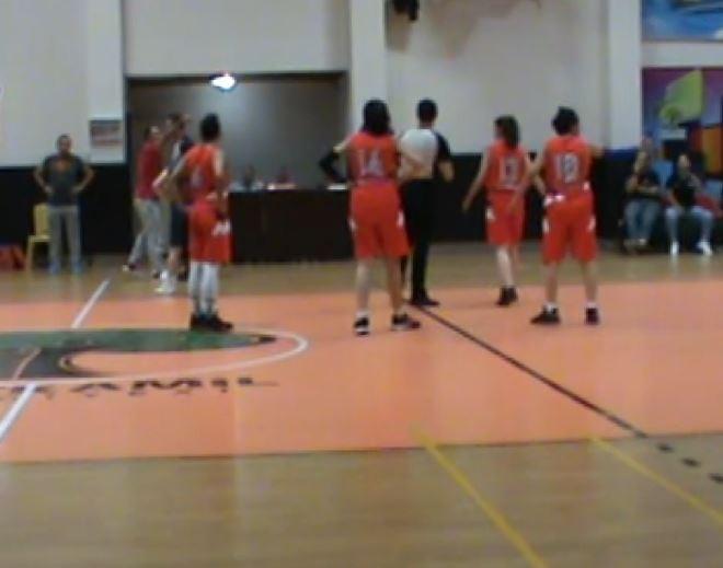 Kadın basketbol maçında erkek şiddeti